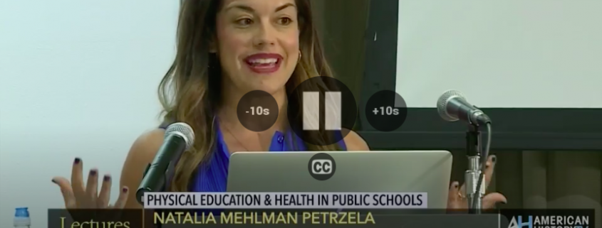 history of schools, history of education, tv historian, history of physical education, education historian, gender history, women's history, the new school, natalia petrzela tv, lectures in american history